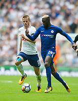 Tottenham's Eric Dier and Chelsea's Tiemoue Bakayoko during the Premier League match between Tottenham Hotspur and Chelsea at Wembley Stadium, London, England on 20 August 2017. Photo by Andrew Aleksiejczuk / PRiME Media Images.