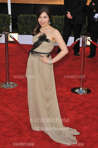 America Ferrera at the 15th Annual Screen Actors Guild Awards at the Shrine Auditorium, Los Angeles..January 25, 2009 Los Angeles, CA.Picture: Paul Smith / Featureflash