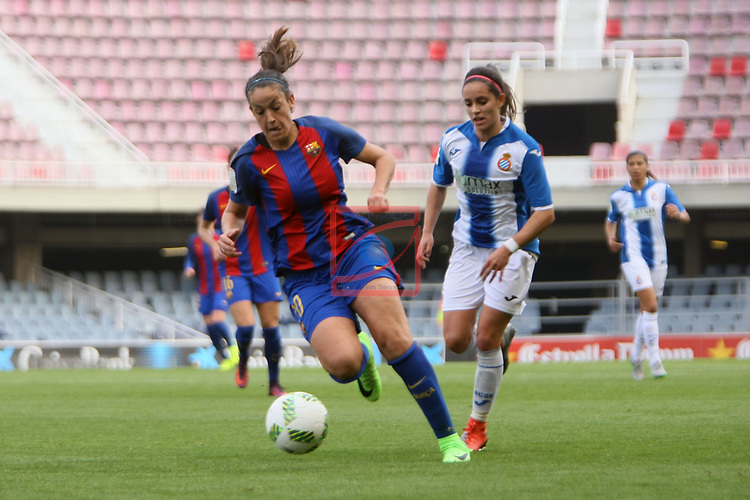 Spanish Women's Football League Iberdrola 2016/17 - Game: 21.<br /> FC Barcelona vs RCD Espanyol: 5-0.<br /> Olga Garcia vs Brenda Perez.