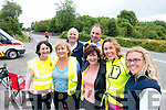 Catherine O'Halloran, Tralee, Mary Cotter, Tralee, DJ O'Callaghan, Tralee, John Tehan, Caherciveen,  Eileen Butler, Tralee, Maria Teahon, Caherciveen Christina O'Callaghan, Tralee, Cyclists at the Ring of Kerry Charity Cycle on Saturday.
