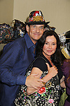 Guiding Light Sean McDermott wearing Jane Elissa hat as he poses with General Hospital Jackie Zeman holding Jane Elissa bag at Romantic Times Booklovers Annual Convention 2011 - The Book Industry Event of the Year - April 8, 2011 at the Westin Bonaventure, Los Angeles, California for readers, authors, booksellers, publishers, editors, agents and tomorrow's novelists - the aspiring writers. (Photo by Sue Coflin/Max Photos)