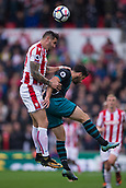 30th September, bet365 Stadium, Stoke-on-Trent, England; EPL Premier League football, Stoke City versus Southampton; Stoke City's Geoff Cameron heads the ball