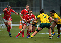 Julianne Zussman in action during the 2017 International Women's Rugby Series rugby match between Canada and Australia Wallaroos at Smallbone Park in Rotorua, New Zealand on Saturday, 17 June 2017. Photo: Dave Lintott / lintottphoto.co.nz