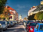 Rzeszów (woj. podkarpackie) 2018-10-11. Centrum miasta. ulica Cichociemnych.