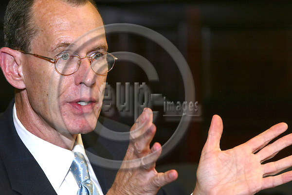 BRUSSELS - BELGIUM - 30 SEPTEMBER 2005 -- Robert J. STEVENS, Chairman of the Board, President and Chief Executive Officer of Lockheed Martin.   PHOTO: ERIK LUNTANG / EUP-IMAGES..