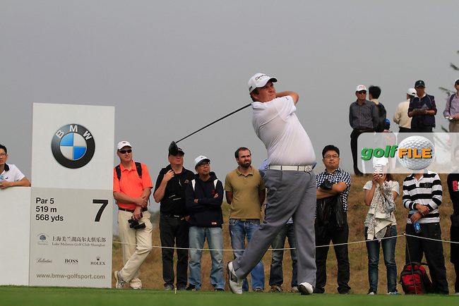 Shane Lowry (IRL) on the 7th tee on Day 4 of the BMW Masters 2012 at Lake Malaren Golf Club, Shanghai, China, Tuesday 28/10/12...(Photo www.golffile.ie)