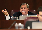 Nevada Assemblyman John Ellison, R-Elko, works in committee at the Legislative Building in Carson City, Nev., on Thursday, Feb. 5, 2015. <br /> Photo by Cathleen Allison