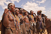 Erbore girls dance in Weyto valley Ethiopia