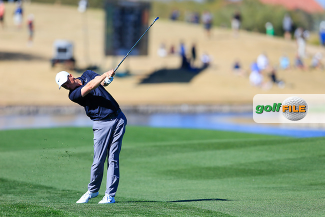 Adam Long (USA) on the 15th during the 2nd round of the Waste Management Phoenix Open, TPC Scottsdale, Scottsdale, Arisona, USA. 01/02/2019.<br /> Picture Fran Caffrey / Golffile.ie<br /> <br /> All photo usage must carry mandatory copyright credit (&copy; Golffile | Fran Caffrey)