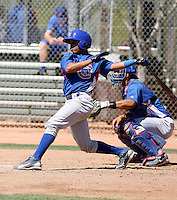 Yaniel Cabezas of the Chicago Cubs participates in spring training workouts at the Cubs minor league complex on March 31, 2011  in Mesa, Arizona. .Photo by:  Bill Mitchell/Four Seam Images.