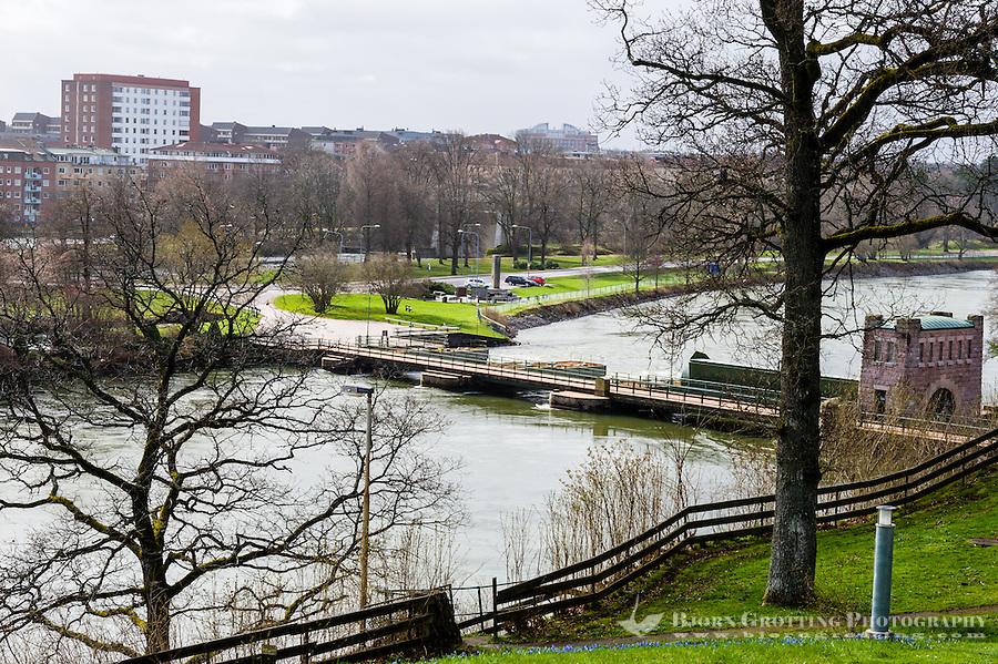 Sweden, Trollhättan. View over Göta älv.