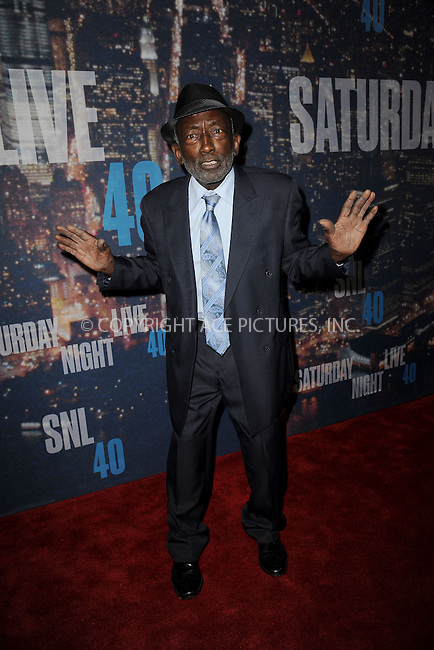 WWW.ACEPIXS.COM<br /> February 15, 2015 New York City<br /> <br /> Garrett Morris walking the red carpet at the SNL 40th Anniversary Special at 30 Rockefeller Plaza on February 15, 2015 in New York City.<br /> <br /> Please byline: Kristin Callahan/AcePictures<br /> <br /> ACEPIXS.COM<br /> <br /> Tel: (646) 769 0430<br /> e-mail: info@acepixs.com<br /> web: http://www.acepixs.com