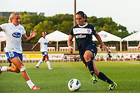 Sky Blue FC forward Monica Ocampo (8). Sky Blue FC defeated the Boston Breakers 5-1 during a National Women's Soccer League (NWSL) match at Yurcak Field in Piscataway, NJ, on June 1, 2013.