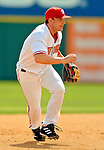 11 March 2006: Brendan Harris, infielder for the Washington Nationals, sets for a drive during a Spring Training game against the Los Angeles Dodgers. The Nationals defeated the Dodgers 2-1 in 10 innings at Space Coast Stadium, in Viera, Florida...Mandatory Photo Credit: Ed Wolfstein.