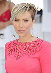 LOS ANGELES, CA - APRIL 12: Actress Scarlett Johansson arrives at the 2015 MTV Movie Awards at Nokia Theatre L.A. Live on April 12, 2015 in Los Angeles, California.