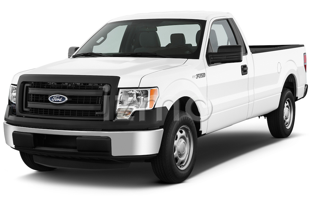 Front three quarter view of a 2013 Ford F150 XL Reg Cab