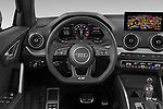 Car pictures of steering wheel view of a 2019 Audi SQ2 Base 5 Door SUV