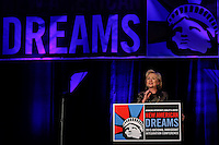 Presidential candidate Hillary Clinton speaks to guests during the National Immigrant Integration Conference in Brooklyn,  New York, 12/14/2015 Photo by VIEWpress