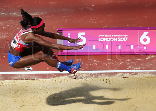 August 6th 2017, London Stadium, East London, England; IAAF World Championships, Day 3; Yorgelis Rodriguez of Cuba competing in the Women's Long Jump Heptathlon