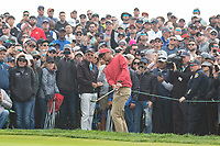 25th January 2020, Torrey Pines, La Jolla, San Diego, CA USA;  Tony Finau hits out off the rough  during round 3 of the Farmers Insurance Open at Torrey Pines Golf Club on January 25, 2020