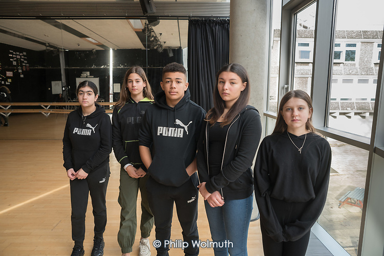 Shortlisted entrants to the Camden Youth Safety Week multimedia creative competition at Acland Burghley School, London Borough of Camden.