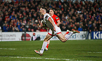 Friday 3rd January 2020 | Ulster Rugby vs Munster Rugby<br /> <br /> John Cooney races clear to score Ulster's first try during the PRO14 Round 10 inter-pro clash between Ulster and Munster at Kingspan Stadium, Ravenhill Park, Belfast, Northern Ireland.  Photo by John Dickson / DICKSONDIGITAL