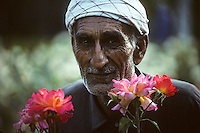 Portrait of the head gardener at Shalimar Gardens in Lahore in 1996.