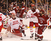 [Phil Zielonka (Harvard - 72), Nathan Krusko (Harvard - 13) - The Harvard University Crimson defeated the Boston University Terriers 6-3 (EN) to win the 2017 Beanpot on Monday, February 13, 2017, at TD Garden in Boston, Massachusetts.