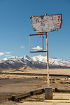 Sign at abandoned store  along the I-80 frontage road, Imlay, Nevada