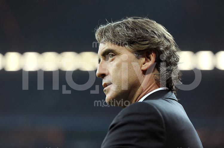 FUSSBALL   CHAMPIONS LEAGUE   SAISON 2011/2012     27.09.2011 FC Bayern Muenchen - Manchester City FC Trainer Roberto Mancini (Manchester City)