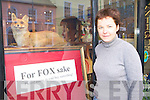Kate O'Connell Frameworks Antiques and Frame Shop, New Street Killarney with her novel way of attracting customers to her shop as the recession bites in Killarney