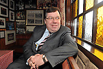 26-2-2012: Former Taoiseach Brian Cowen was in jovial mood recalling some great sporting moments with his great friend Paidi O'Se in his pub in Ventry, County Kerry on Sunday after the annual Paidi O'Se GAA tournament finished in on Sunday. Mr Cowen opened a photographic exhibition for Tralee photographer John Cleary..Picture by Don MacMonagle