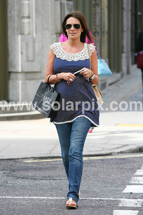 **ALL ROUND PICTURES FROM SOLARPIX.COM**.**WORLDWIDE SYNDICATION RIGHTS**.Pregnant Glamour girl model & girlfriend of premiership footballer .Jamie O'Hara Danielle Lloyd having her hair done and shopping in London today...This pic: Danielle Lloyd..JOB REF: 11041      LNJ     DATE:6.04.2010.**MUST CREDIT SOLARPIX.COM OR DOUBLE FEE WILL BE CHARGED**.**MUST NOTIFY SOLARPIX OF ONLINE USAGE**.**CALL US ON: +34 952 811 768 or LOW RATE FROM UK 0844 617 7637**
