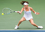 Agnieszka Radwanska (POL) during her Round of 16 match against Misaki Doi (JPN) at the Bank of the West Classic in Stanford, CA on August 6, 2015. After a slow start Radwanska advances with a score of 16 62 60.