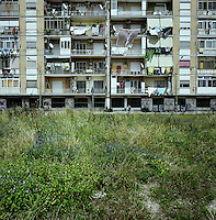 An apartment building in Acerra, Italy, about 30 kilometers North of Naples, Italy in June 2010. Acerra is one city within the Triangle of Death where the rise in illegal toxic waste disposal by the Camorra has led to a drastic rise in health and economic problems. ..PHOTOS/ MATT NAGER