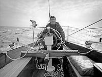 A bord de Pénélope II, Didier Maupas pour une des premières victoires française au championnat du RORC.
