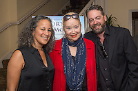 """Gina Belafonte, Sally Kirkland and Brent Roske attend the Screening and Reception for Feature Film """"Courting Des Moines"""" at the Charlie Chaplin Theater, Raleigh Studios in Los Angeles on Thursday, June 30, 2016 (Photo by Inae Bloom/Guest of a Guest)"""