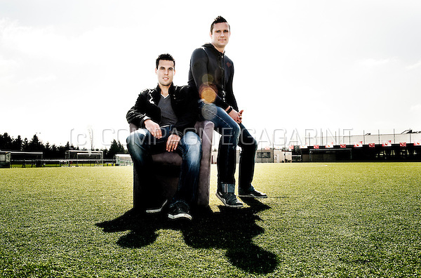 Belgian football players Jérémy Perbet and Cédric Roussel (Belgium, 19/03/2012)