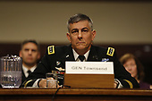General Stephen J. Townsend, United States Army, testifies before the Senate Armed Services Committee for reappointment to the grade of general and to be Commander, United States Africa Command, in Washington, DC, April 2, 2019.<br /> Credit: Martin H. Simon / CNP