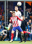 Real Madrid's Sergio Ramos (t) and Atletico de Madrid's Antoine Griezmann during UEFA Champions League 2015/2016 Final match.May 28,2016. (ALTERPHOTOS/Acero)