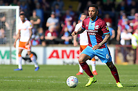 Scunthorpe United's Funso Ojo in action<br /> <br /> Photographer David Shipman/CameraSport<br /> <br /> The EFL Sky Bet League One - Scunthorpe United v Blackpool - Friday 19th April 2019 - Glanford Park - Scunthorpe<br /> <br /> World Copyright © 2019 CameraSport. All rights reserved. 43 Linden Ave. Countesthorpe. Leicester. England. LE8 5PG - Tel: +44 (0) 116 277 4147 - admin@camerasport.com - www.camerasport.com