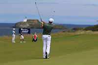 Christiaan Bezuidenhout (RSA) on the 4th during Round 4 of the Aberdeen Standard Investments Scottish Open 2019 at The Renaissance Club, North Berwick, Scotland on Sunday 14th July 2019.<br /> Picture:  Thos Caffrey / Golffile<br /> <br /> All photos usage must carry mandatory copyright credit (© Golffile | Thos Caffrey)