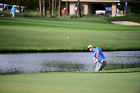 Jon Rahm (ESP) hits his approach shot on 12 during round 1 of the Shell Houston Open, Golf Club of Houston, Houston, Texas, USA. 3/30/2017.<br /> Picture: Golffile | Ken Murray<br /> <br /> <br /> All photo usage must carry mandatory copyright credit (&copy; Golffile | Ken Murray)
