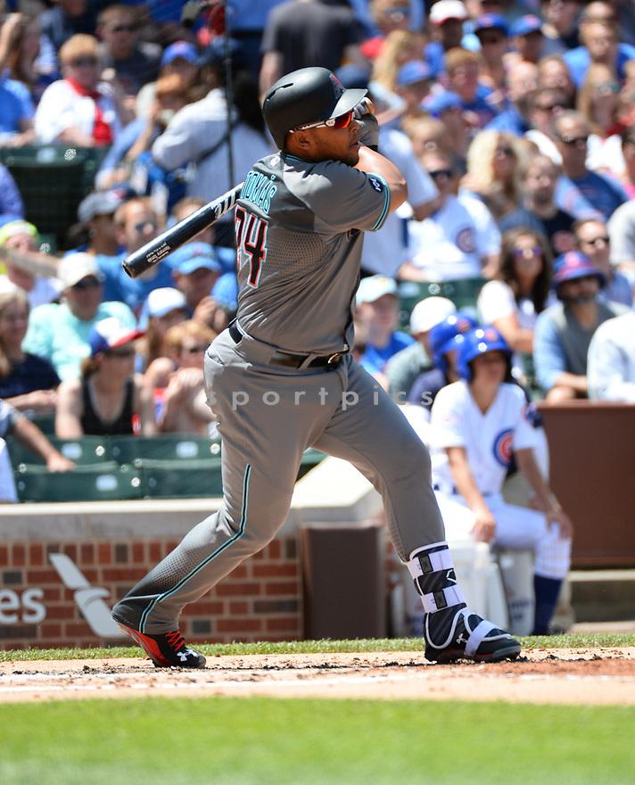 Arizona Diamondbacks Yasmany Tomas (24) during a game against the Chicago Cubs on June 5, 2016 at Wrigley Field in Chicago, IL. The Diamondbacks beat the Cubs 3-2.
