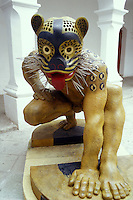 Guerrero Jaguar sculpture byTiburcio Ortiz in the Museum of Oaxacan Painters or Museo de los Pintores Oaxaquenos, Oaxaca city, Mexico