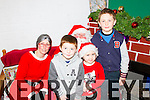 Pictured at the Christmas food and crafts fair in Duagh Sports and Leisure Centre on Sunday were L-R: Jay, Orla and Eoin Dowling, Duagh with Santa and Mrs. Claus, North Pole.