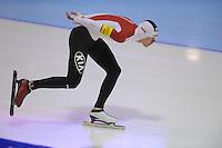 SCHAATSEN: HEERENVEEN: IJsstadion Thialf, 16-11-2012, Essent ISU World Cup, Season 2012-2013, Men 5000 meter Division B, Stefan Due Schmidt (DEN), ©foto Martin de Jong