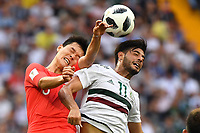 (180623) -- ROSTOV-ON-DON, June 23, 2018 -- Carlos Vela (R) of Mexico competes for a header during the 2018 FIFA World Cup WM Weltmeisterschaft Fussball Group F match between South Korea and Mexico in Rostov-on-Don, Russia, June 23, 2018. Mexico won 2-1. ) (SP)RUSSIA-ROSTOV-ON-DON-2018 WORLD CUP-GROUP F-SOUTH KOREA VS MEXICO LixGa PUBLICATIONxNOTxINxCHN  <br /> ROSTOV-ON-DON 23-06-2018 Football FIFA World Cup Russia  2018 <br /> South Korea - Mexico / Corea del Sud - Messico<br /> Foto Xinhua/Imago/Insidefoto