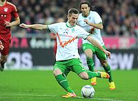 FUSSBALL   1. BUNDESLIGA  SAISON 2011/2012   15. Spieltag FC Bayern Muenchen - SV Werder Bremen        03.12.2011 Tor zum 1:1 Markus Rosenberg (SV Werder Bremen)