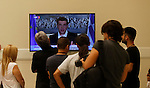 Greek referendum on the proposed resolution of the creditors. Alexis Tsipras, Prime Minister of Greece, speaking citizens after knowing the result set of the referendum. July 5, 2015. (ALTERPHOTOS/Pablo Garcia)